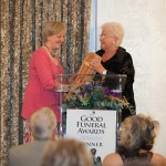 Jean collecting her award