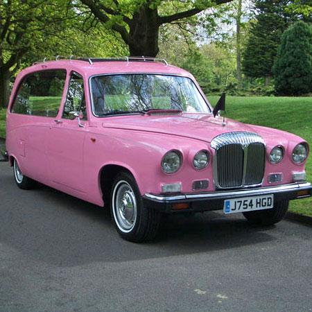 Pink Daimler Hearse
