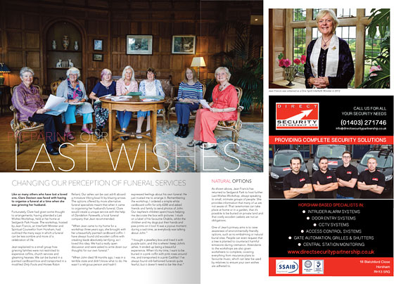 Last Wishes article in AAH magazine